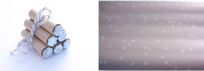 Geschenkpapier Schneegestöber