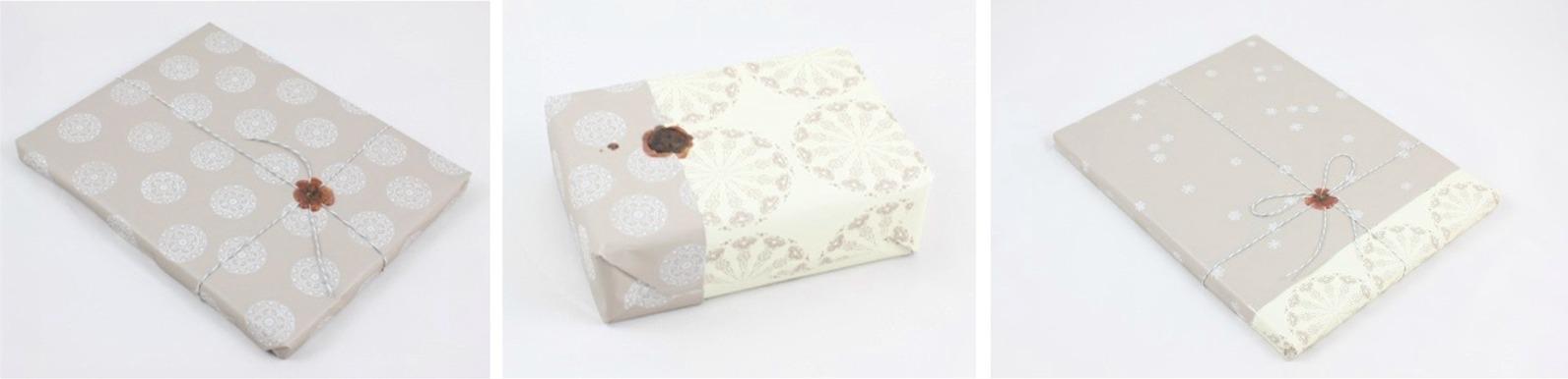 Geschenkpapier mit Siegelwachs