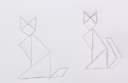 Skizze Origami Tier