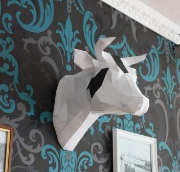 3D Kuh von links