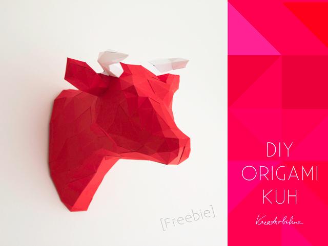 Origami-Kuh-Papier-falten