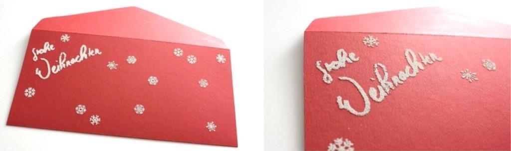 Umschlag mit Embossingpulver