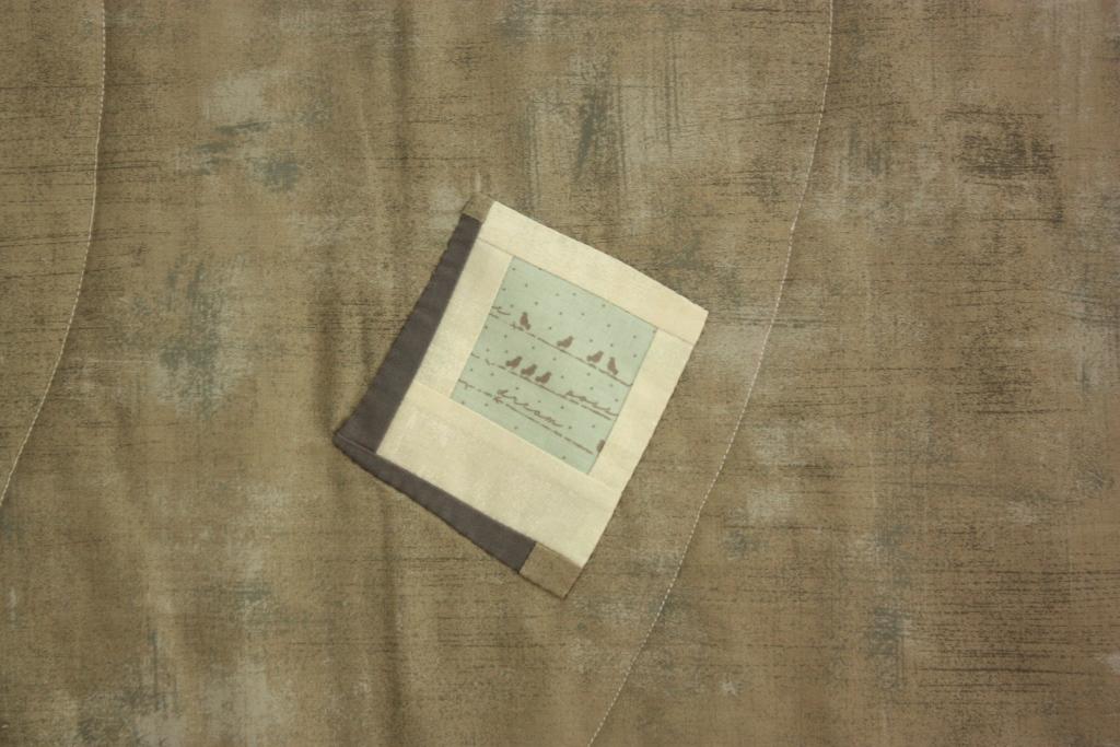 handappliziertes Polaroid mit Schatten