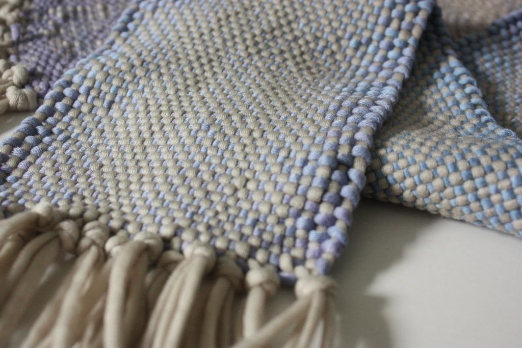 Nahansicht meines gewebten Schals