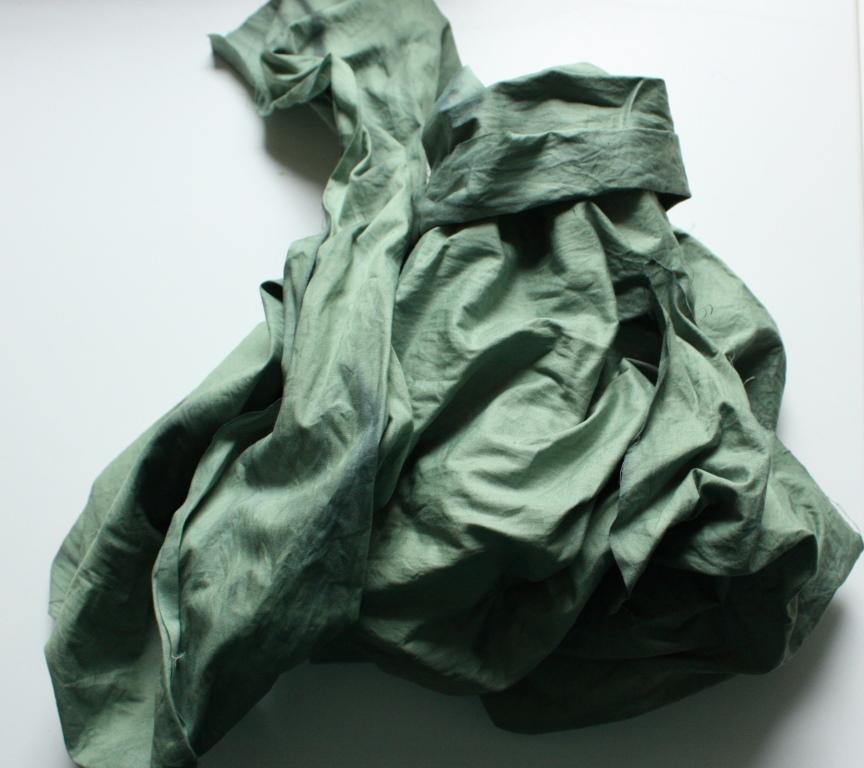 der beschichtete Stoff ist grün