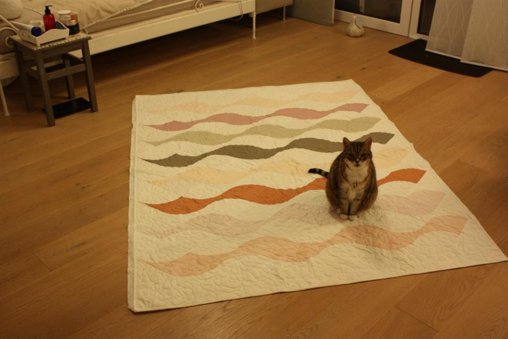 Beequilt mit Katze